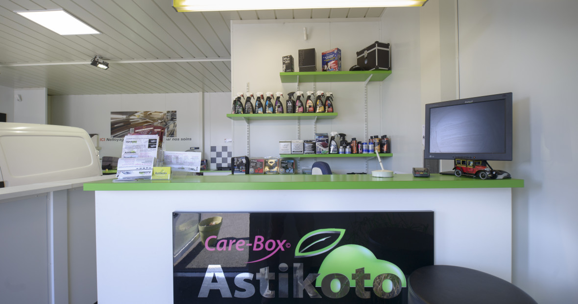 Boutique de produits au Care-Box
