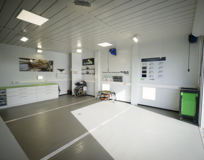 Care-Box espace étudié pour l'entretien des véhicules