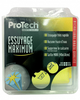 MICROFIBRE ESSUYAGE MAXIMUM WIPING CHAMOIS